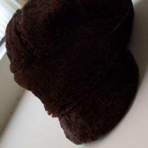 Faux Fur Hat BNWT Brown Nine West